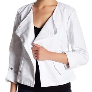 Live a Little Jacket Roll Sleeve Size XLP White